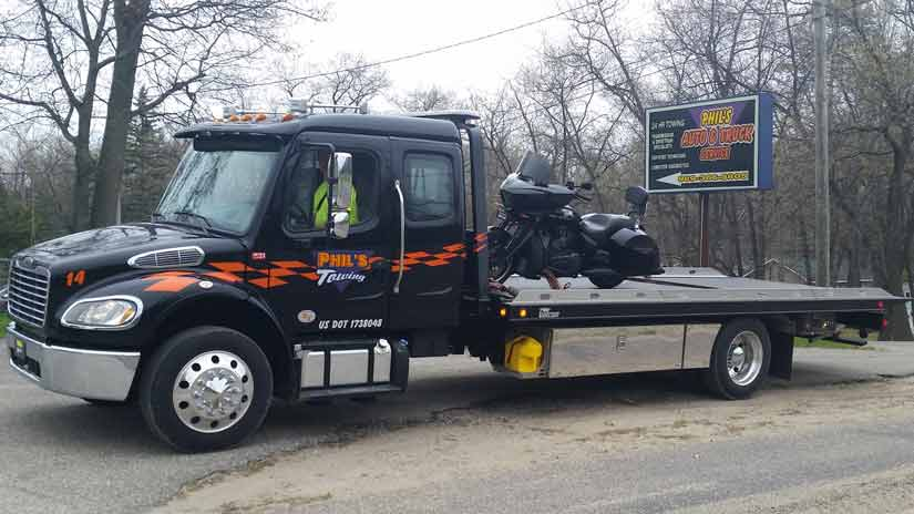 Motorcycle towing Grayling MI